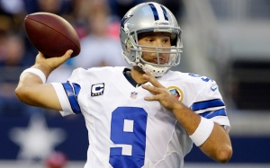 Dallas Cowboys quarterback Tony Romo (9) passes the ball against the Pittsburgh Steelers during the first half of an NFL football game Sunday, Dec. 16, 2012 in Arlington, Texas. (AP Photo/Tony Gutierrez)